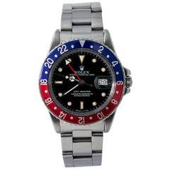 Rolex GMT Master 16750, Black Dial, Certified and Warranty