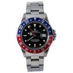 Rolex GMT Master 16750; Gold Dial, Certified and Warranty