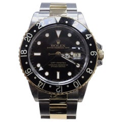 Rolex GMT Master 16753 18 Karat Yellow Gold and Stainless Steel