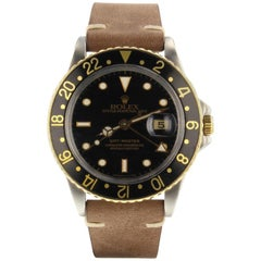 Rolex GMT Master 16753, Black Dial, Certified and Warranty