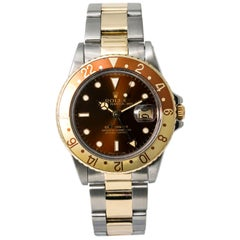 Rolex GMT Master 16753, Brown Dial, Certified and Warranty