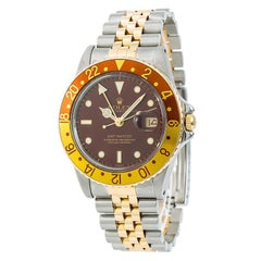 Rolex GMT-Master 16753 Root Beer Men's Automatic Watch 18 Karat Two-Tone