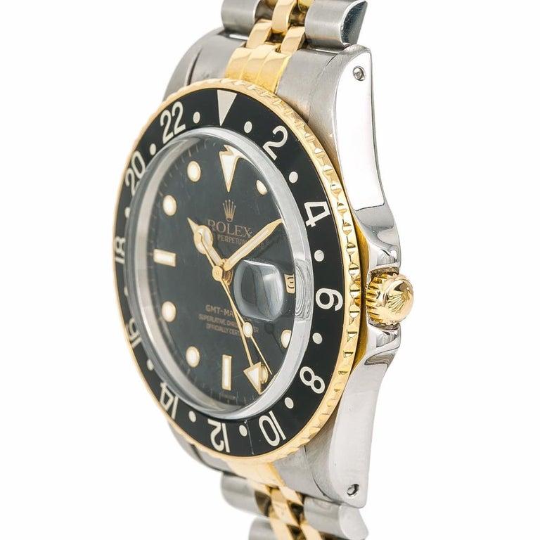 Women's Rolex GMT-Master 16753 Vintage Men's Automatic Watch Black Dial Two-Tone
