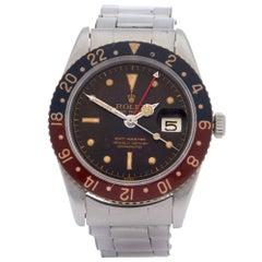 Rolex GMT-Master Bakelite 6542 Men Stainless Steel Tropical Dial Watch
