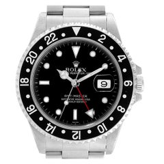 Rolex GMT Master Black Bezel Automatic Steel Men's Watch 16700