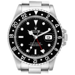 Rolex GMT Master Black Bezel Steel Men's Watch 16700 Box Papers