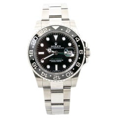 Rolex GMT-Master Black Ceramic Stainless Mens Automatic Watch 2019 Card
