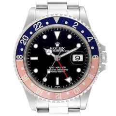 Rolex GMT Master Blue Red Pepsi Bezel Steel Men's Watch 16700 Box