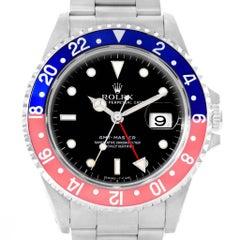 Rolex GMT Master Blue Red Pepsi Bezel Steel Men's Watch 16700