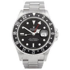 Rolex GMT-Master II 0 16710 Men's Stainless Steel Stick Dial Watch