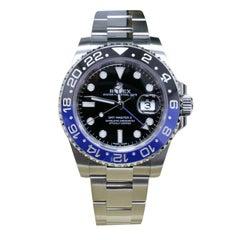 Rolex GMT Master II 116710BLNR Batman Black and Blue Stainless Box Paper, 2016
