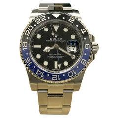 Rolex GMT Master II 116710BLNR Batman Black and Blue Steel Box Paper, 2016