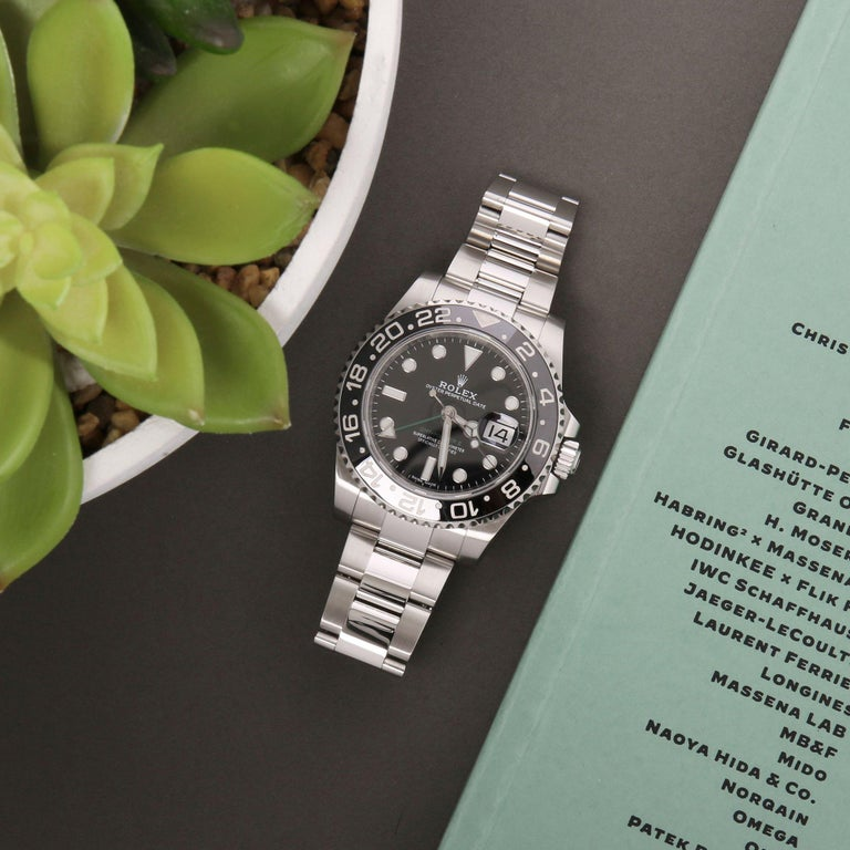 Rolex GMT-Master II 116710LN Men's Stainless Steel Watch For Sale 8