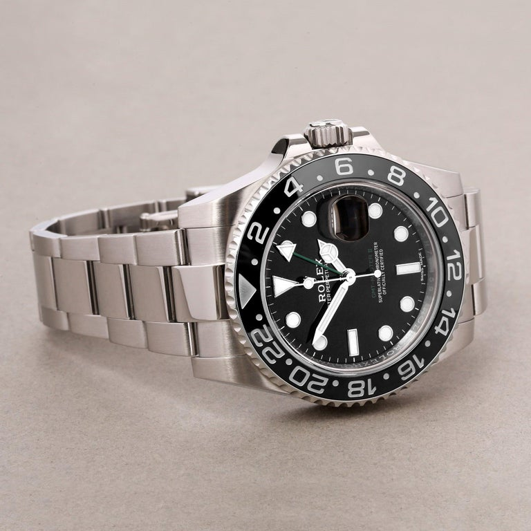 Rolex GMT-Master II 116710LN Men's Stainless Steel Watch For Sale 2