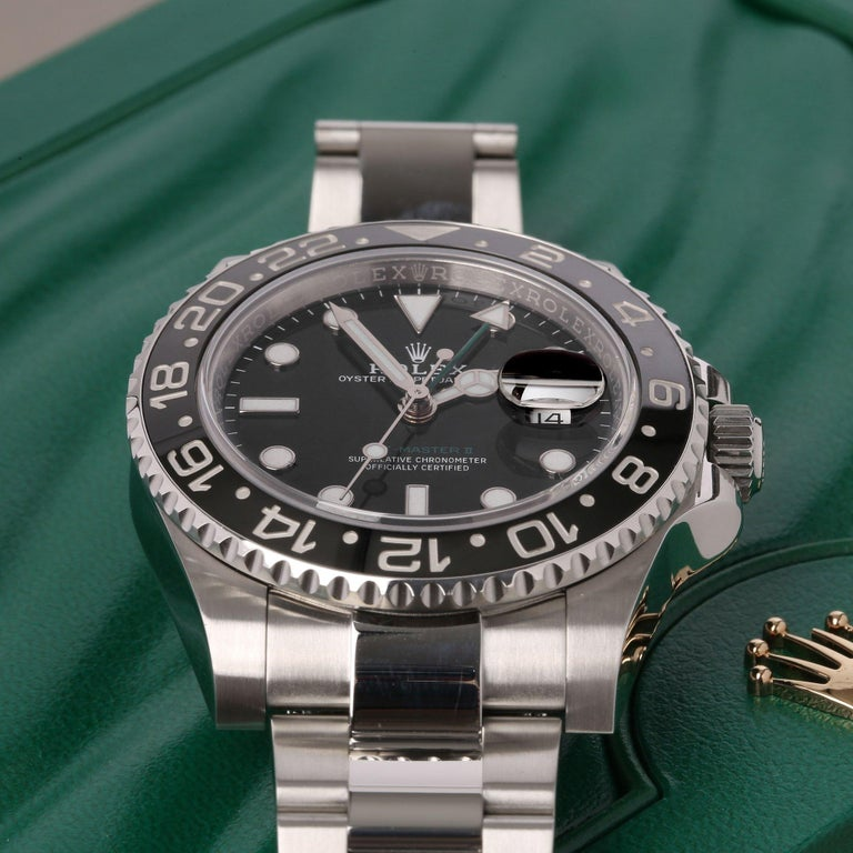 Rolex GMT-Master II 116710LN Men's Stainless Steel Watch For Sale 5