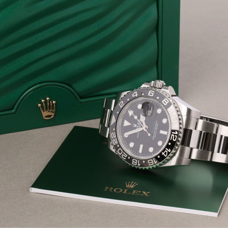 Rolex GMT-Master II 116710LN Men's Stainless Steel Watch For Sale 6