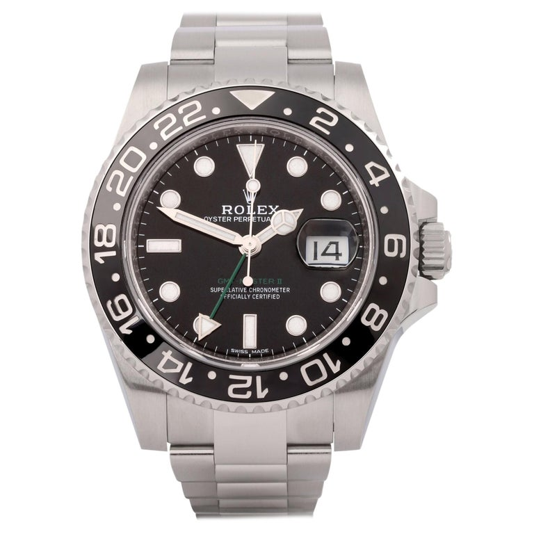 Rolex GMT-Master II 116710LN Men's Stainless Steel Watch For Sale