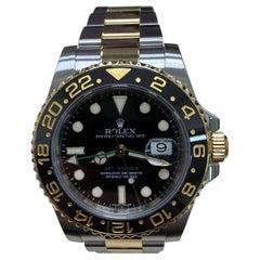 Rolex GMT Master II 116713 Ceramic 18 Karat Yellow Gold Stainless Steel