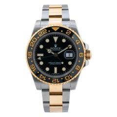 Rolex GMT-Master II 116713LN 18k & SS Black Ceramic Auto Men Watch W/P 2015