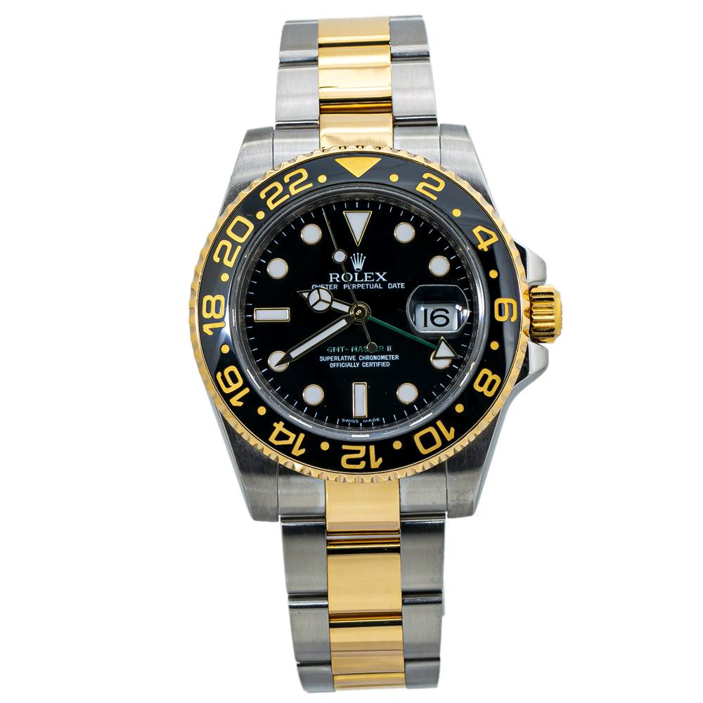 Rolex GMT Master II 116713LN Ceramic 18K Gold Stainless Steel with Papers