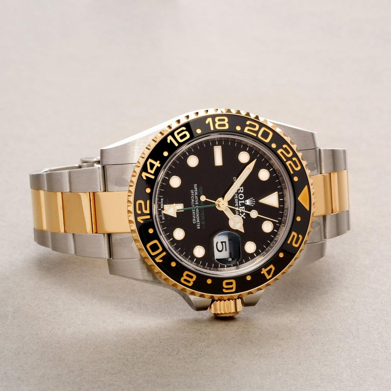 Rolex GMT-Master II 116713LN Men's Stainless Steel Watch For Sale 2