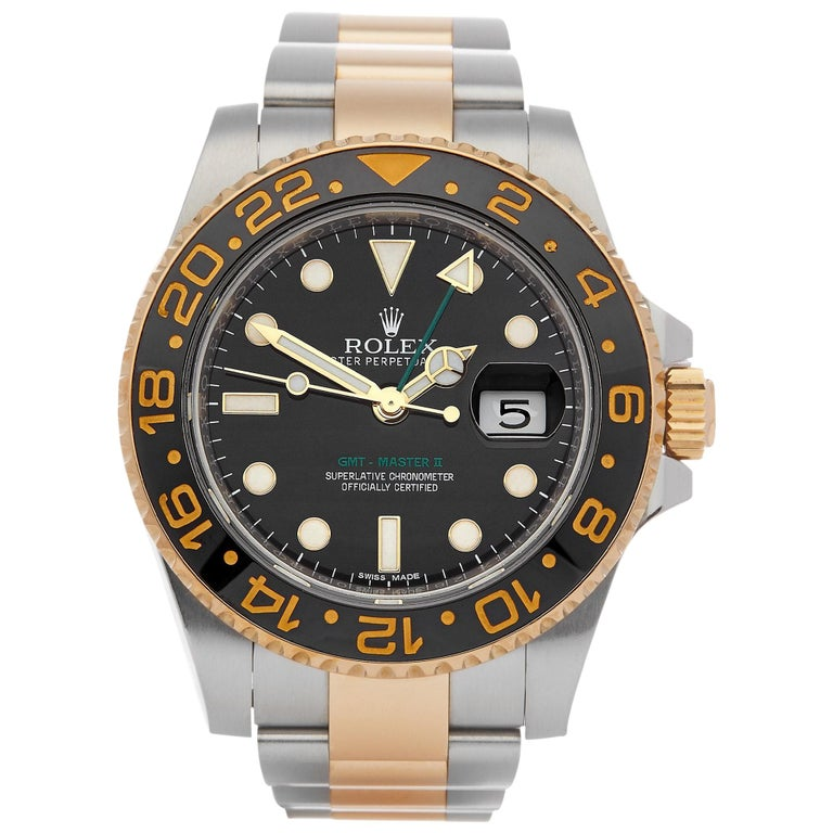 Rolex GMT-Master II 116713LN Men's Stainless Steel and Yellow Gold Watch