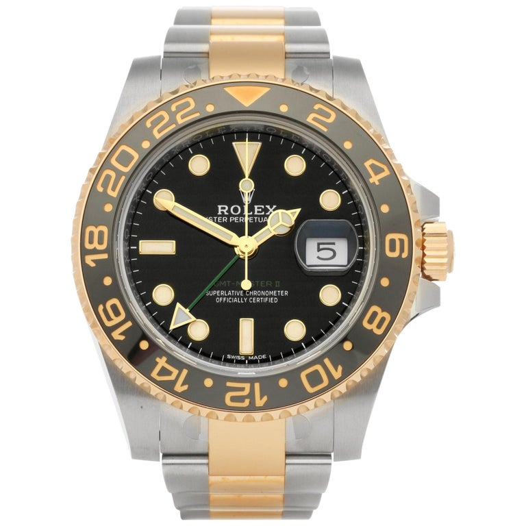 Rolex GMT-Master II 116713LN Men's Stainless Steel Watch For Sale