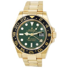 Rolex GMT Master II 116718, Green Dial, Certified and Warranty