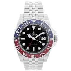 "Rolex GMT, Master II 126710 BLRO Stainless Steel Men's Watch ""Pepsi"""
