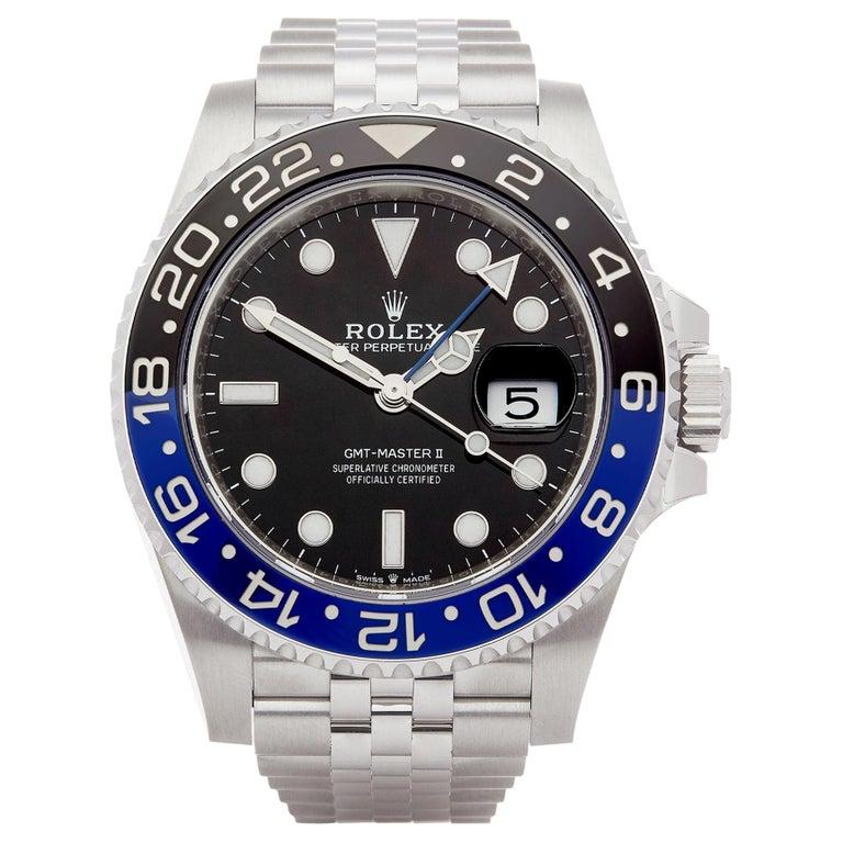 Rolex GMT-Master II 126710BLNR Men's Stainless Steel Batgirl Watch For Sale