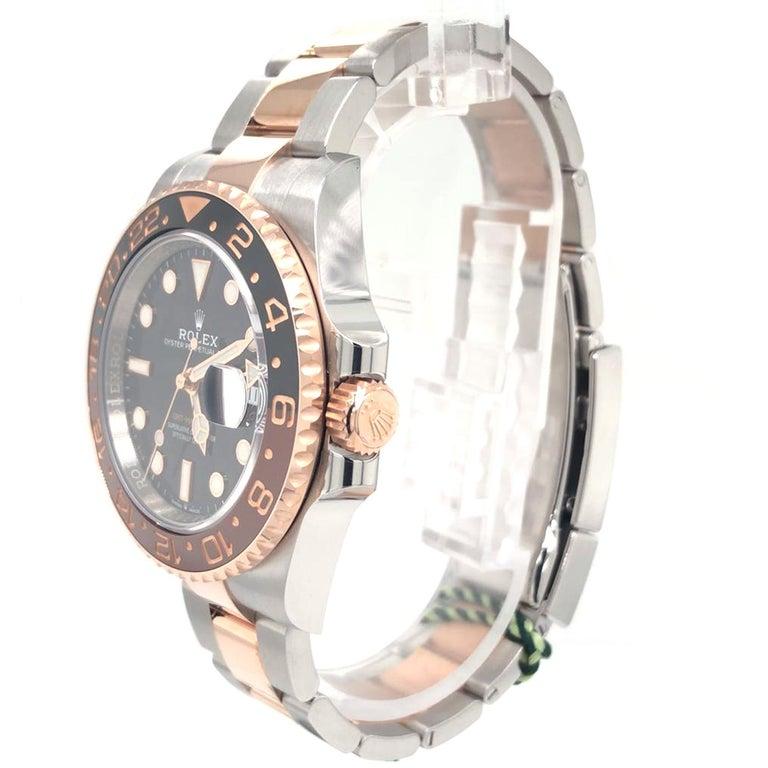 Modernist Rolex GMT-Master II 126711CHNR Black Dial Root Beer Bezel Oyster Bracelet For Sale