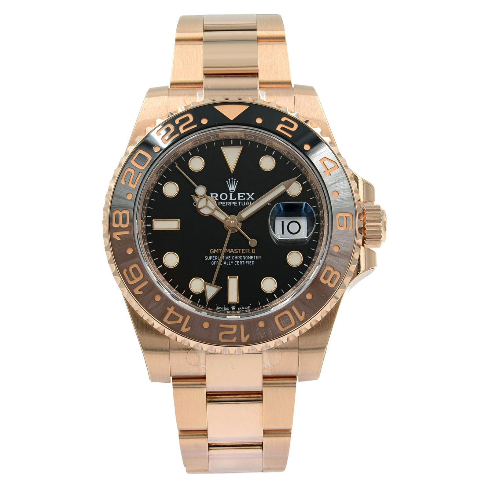 Rolex GMT-Master II 126715 Root Beer 18 Karat Rose Gold Automatic Men's Watch