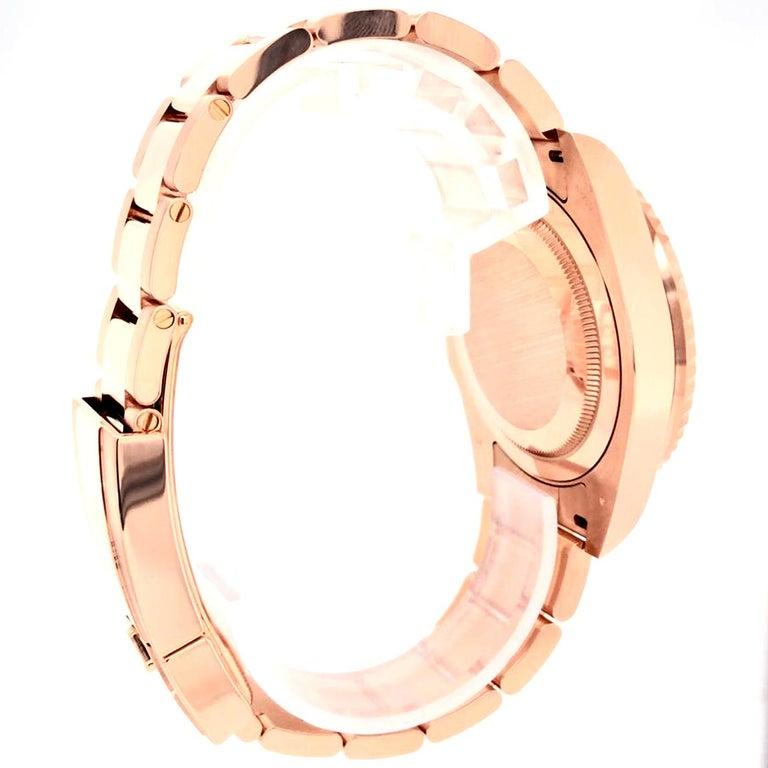 Men's Rolex GMT-Master II 126715 Rootbeer 18k Everose Gold Ceramic Vintage Bezel Watch For Sale