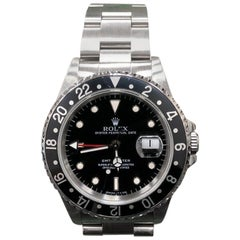 Rolex GMT Master II 16700 Black Bezel Stainless Steel Box and Papers