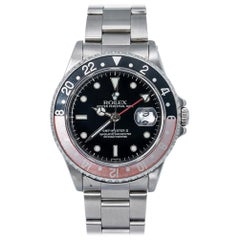Rolex GMT Master II 16710, Black Dial, Certified and Warranty