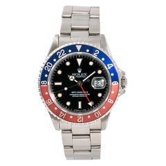 Rolex GMT Master II 16710 Men's Automatic Stainless Steel Watch Pepsi Bezel