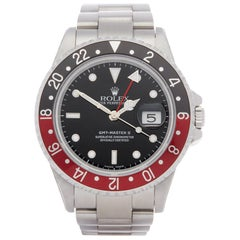 Rolex GMT-Master II 16710 Men's Stainless Steel Coke Watch