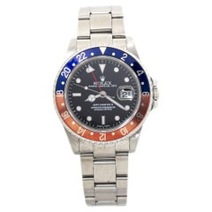 Rolex GMT Master II 16710 Pepsi Faded SEL Stainless Mens Automatic Watch
