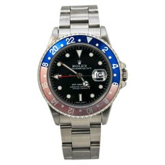 Rolex GMT Master II 16710 Pepsi Stainless P Serial Automatic Mens Watch