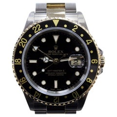 Rolex GMT Master II 16713 Black 18 Karat Gold and Steel Box and Booklets, 2004
