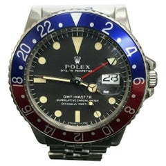 Rolex GMT Master II 1675, Black Dial, Certified and Warranty