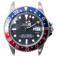 Rolex GMT Master II 1675, Millimeters Silver Dial, Certified and Warranty