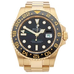 Rolex GMT Master II 18 Karat Yellow Gold Men's 116718
