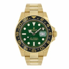 Rolex GMT-Master II 18 Karat Yellow Gold Watch Ceramic Bezel Watch 116718