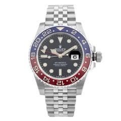 Rolex GMT-Master II Steel Ceramic Pepsi Black Dial Mens Watch 126710BLRO