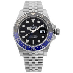 Rolex GMT-Master II Batgirl Steel Jubilee Black Dial Men's Watch 126710BLNR