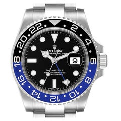 Rolex GMT Master II Batman Blue Black Ceramic Bezel Steel Watch 116710 Box Paper