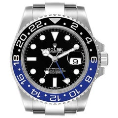 Rolex GMT Master II Batman Blue Black Ceramic Bezel Steel Watch 116710
