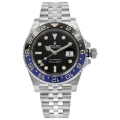 Rolex GMT-Master II Batman Ceramic Steel Jubilee Bracelet Watch 126710BLNR