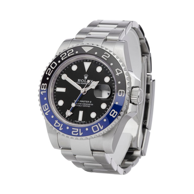 Ref: W6231 Manufacturer: Rolex Model: GMT-Master II Model Ref: 116710BLNR Age: 27th June 2016 Gender: Mens Complete With: Box & Guarantee Dial: Black Other Glass: Sapphire Crystal Movement: Automatic Water Resistance: To Manufacturers